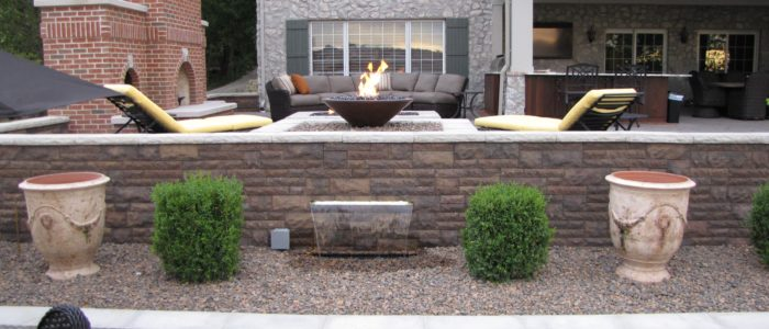hardscaping water feature