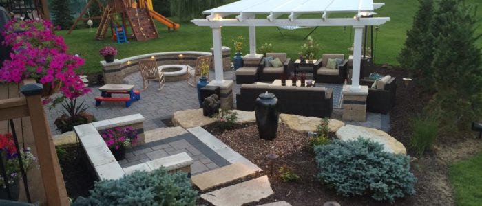 Outdoor Living Patio Area with Hardscaping