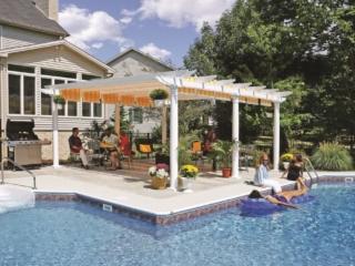 pergola outdoor deck area