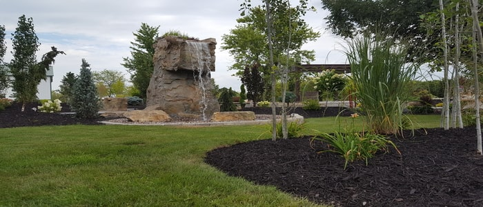 boulder creations with large water feature