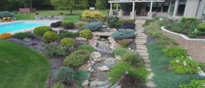 water features and low maintenance landscaping