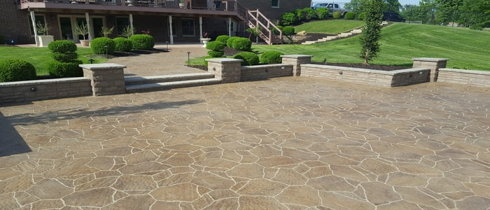 outdoor living stone patio