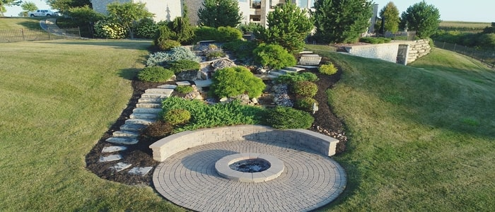 fire features circular firepit